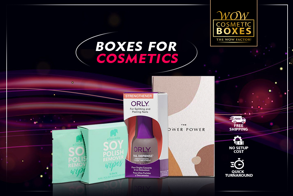 Boxes for cosmetics